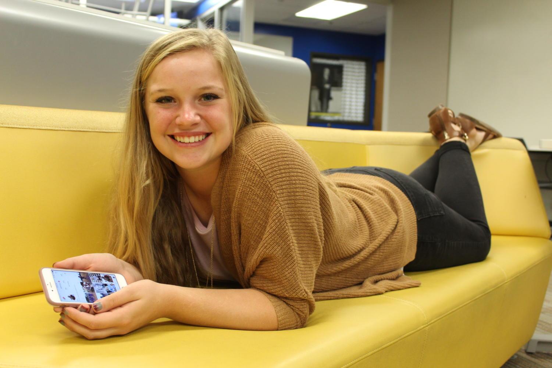 Senior Jenna Spence. Photo by Ashley Ritter